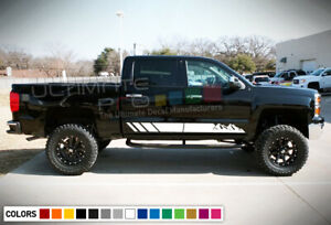 Decal Sticker Graphic Vinyl Side Stripes For Chevrolet Silverado Led Halo Light
