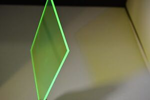 Green Fluorescent Acrylic Sheet 1 4 X 48 X 12