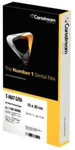 Dental Film X ray Carestream T mat G Tmg 15 15x30 Cm 6x12 Box Of 50 Exp 10 18