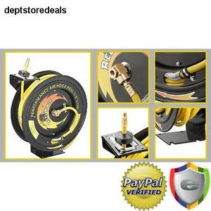 Pentagon Tools Reel Kwik 100 Air Hose Reel Ceiling Work Bench Garage Shop Guide