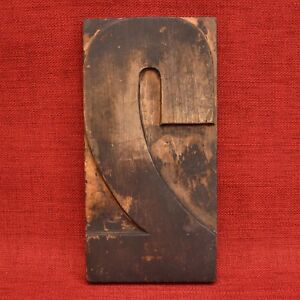 10 By 5 Large Number 2 Wood Letterpress Type Printers Block