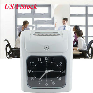 Electronic Employee Analogue Time Recorder Time Clock card Monthly semimonthly