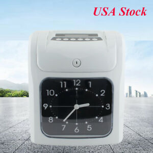 Office Electronic Employee Time Attendance Clock Recorder With Time Clock Cards