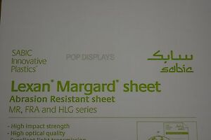 Polycarbonate Sheet Clear Lexan Margard Scratch Resistant 3 8 X 72 X 24