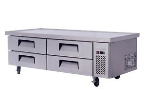 Migali C cb72 76 76 Refrigerated Chef Base 4 Drawers 24 Pans