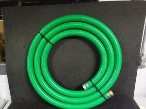 20 Ft Green Water Suction Hose 2 Fitting Size 79 Psi mg