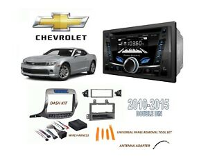 Chevrolet Camaro 2010 2015 Double Din Car Stereo Kit Bluetooth Cd Usb Aux