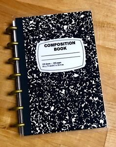 Composition Book Cover Set 4 Use With The Mini Happy Planner