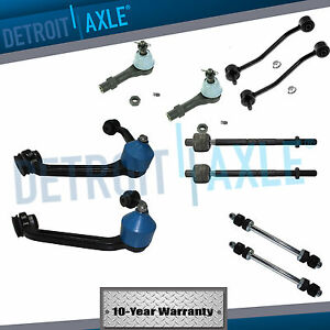 Upper Control Arms W ball Joint Outer Inner Tie Rod End Sway 1 piece Design
