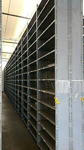 Gray Metal Industrial Shelving Units In 6 12 Tall Sections