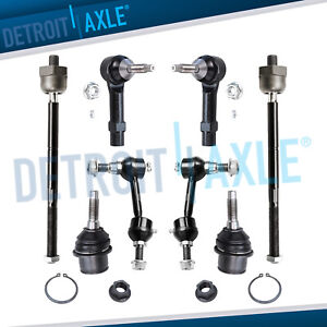 2003 2004 Ford Expedition Front Lower Ball Joint Inner outer Tierod Sway Bar Kit
