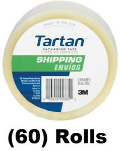 60 Ea 3m Tartan 3710 dc 1 88 X 54 6 Yd Clear Packing Packaging Shipping Tape
