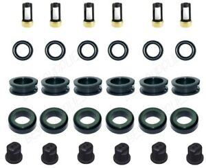 Fuel Injector Service Repair Kit Orings Filters Caps 89 95 Taurus 3 0