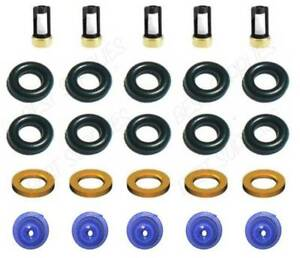 Fuel Injector Service Repair Kit O Rings Filters Fits 94 97 Volvo 850 2 3l L5