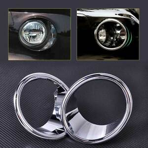 2pcs Front Chrome Plated Fog Light Lamp Cover Trim Fit For 2014 2015 Bmw X5 F15