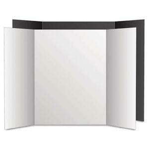 Too Cool Tri fold Poster Board 36 X 48 Black white 6 pk