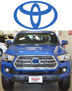 Blazing Blue Pearl Front Grill Vinyl Decal Overlay For 2016 2017 Toyota Tacoma