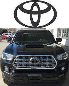 Matte Black Front Grill Vinyl Decal Overlay For 2016 2017 Toyota Tacoma New Usa