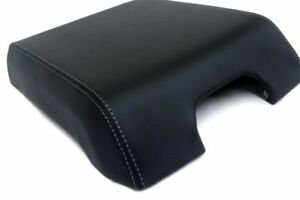 Center Console Armrest Leather Synthetic Cover For Ford F150 15 19 Gray Stitch