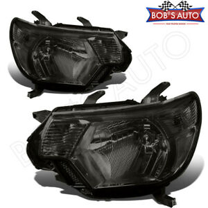 For Toyota Tacoma Trd Pro 12 15 Smoke Tinted Headlights Assembly Factory Style