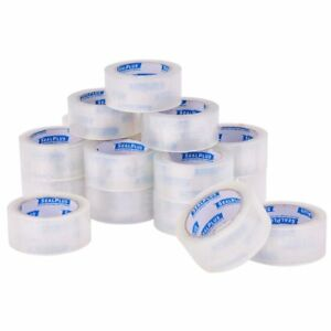 72 Rolls Clear Box Carton Sealing Packing Packaging Tape 2 Inch X 110 Yards