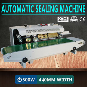 Continuous Auto Sealing Machine Band Sealer Horizontal Plastic Bags 110v us Plug