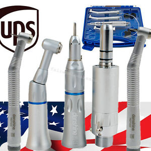 Usa dental Low Speed Handpiece Kit 2 Hole 2pcs High Speed Push Fit Nsk 2hole