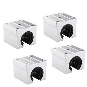 Sbr25uu 25mm Open Linear Bearing Slide Linear Motion Block Cnc 4pcs