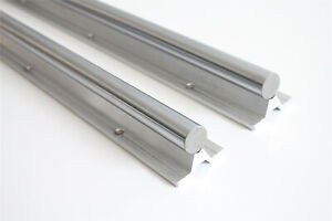 Guide Rail Sbr16 600mm Fully Supported Linear Rail Shaft Rod 2pcs For Cnc