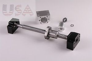 Sfu1605 350mm Ball Screw End Machined With Nut bk12 bf12 coupler Cnc Parts
