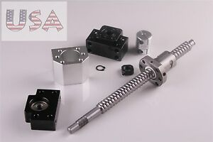 Rm1605 350mm Ballscrew With Ballnut Housing Coupler And Bk bf12 For Cnc