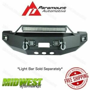 Paramount Led Winch Ready Black Front Bumper Fits 2010 2017 Dodge Ram 2500