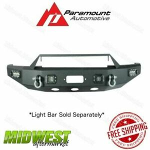 Paramount Led Winch Ready Black Front Bumper Fits 2014 2017 Toyota Tundra