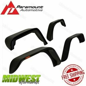Paramount Trail Driver Flat Style Fender Flares Fits 2007 2017 Jeep Wrangler Jk