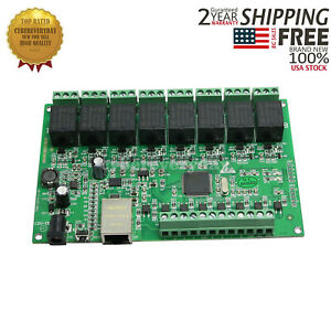 8 Channel Relay Board Network Ip Web Relay Dual Control Ethernet Rj45 Port us