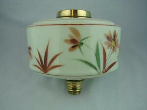 Gorgeous Shabby Chic Pale Green Glass Oil Lamp Font Daisy Floral Decoration