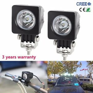 2x 2inch 10w Cree Led Work Light Spot Offroad Driving Fog Lamp Motorcycle 4wd