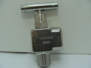 Nv ss 1 2 hs 90 mxf Ss 90 Degree Needle Valve 10 000 Psi 1 2 Npt Mxf