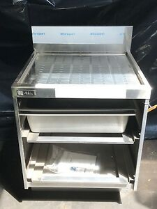 Perlick 7055a d Underbar Glass Rack Storage Unit With Drainboard Top