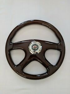 New Raptor 15 Dark Walnut Wood Grain Steering Wheel Premium Quality