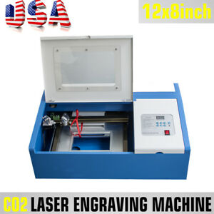 Usa 40w Co2 Usb Laser Engraving Cutting Machine Engraver Cutter Wood Work crafts