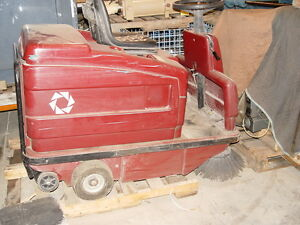 Power Boss Floor Sweeper Rider Model Rs 50f Needs Hyd Drive Motor Battery s