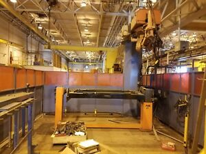 2004 Abb 9 axis Irb 2400 Robotic Welding System 2x positioners Lincoln 450a Weld