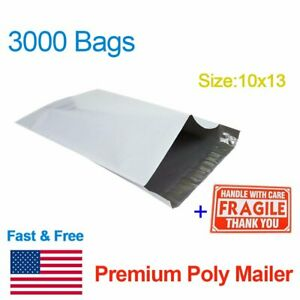 3000 10 X 13 Self Sealing Poly Mailers Shipping Envelopes Plastic Bag Wholesale