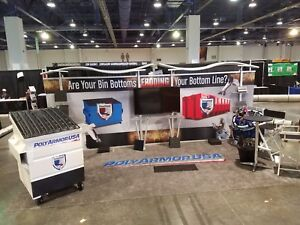 Trade Show Booth 20ft Timberline Hybrid Modular Straight Display W Slat Wall