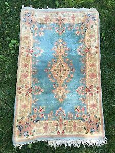 Antique Authentic Persian Hand Made Rug 3 2 X 2 Kerman Rug Lovely