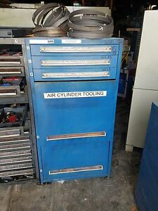 6 Drawer Vidmar Style Tooling Cabinet 27 5 X 30 X 59 Tall