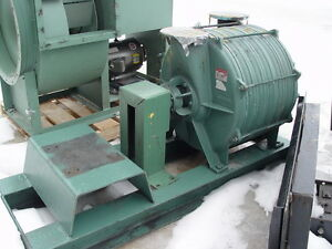 Lamson Direct Drive Skid Mounted Blower 516 0 6 ad W 25 Hp Motor Needs Coupling