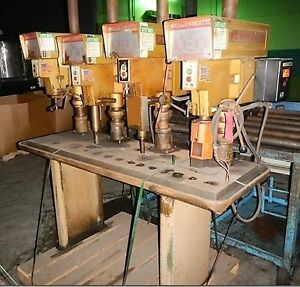 15 Powermatic 1150a 4 spindle Drill Press W oil Production Table Belt pulley