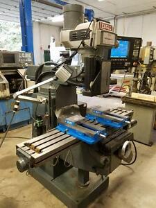 Eagle Cnc Knee Mill W anilam 5300mx Control 10 x54 Table 1x Kurt Vice